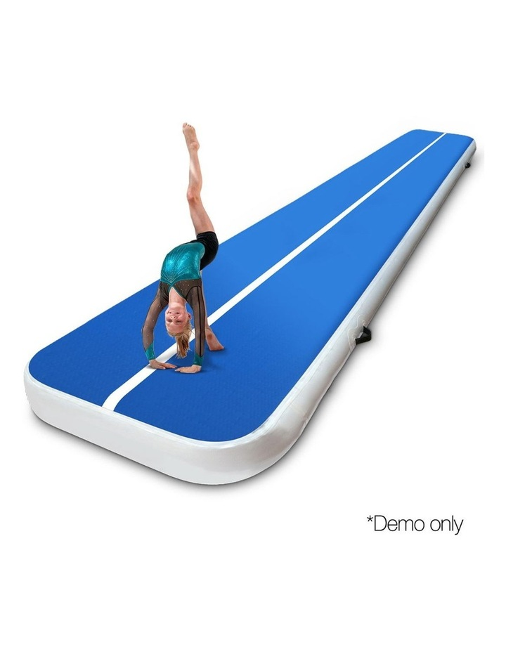 Inflatable Air Track Mat Gymnastic Tumbling 5m x 100cm - Blue image 3