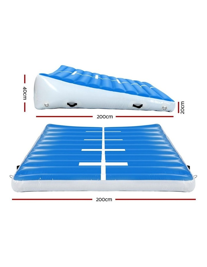 2X2X0.4M Airtrack Inflatable Air Track Ramp Incline Mat Floor Gymnastics image 2
