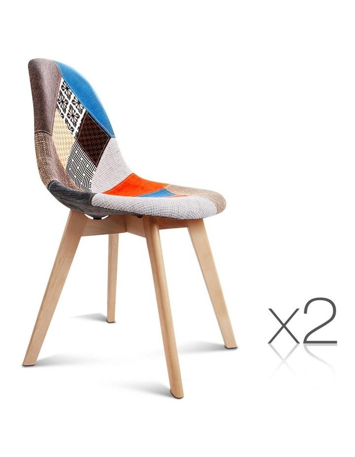 Retro Beech Fabric Dining Chair image 1