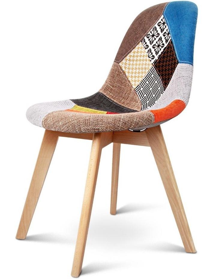Retro Beech Fabric Dining Chair image 4