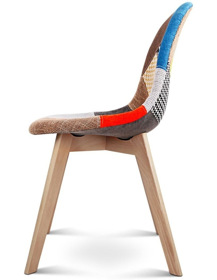 Retro Beech Fabric Dining Chair image 5