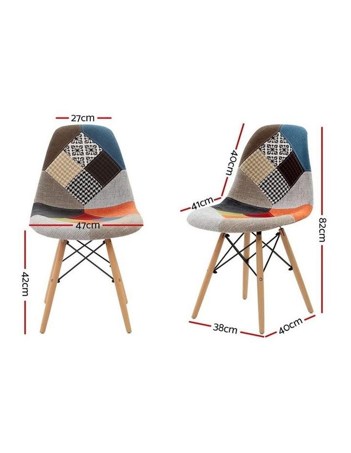 Retro Beech Fabric Dining Chair image 2