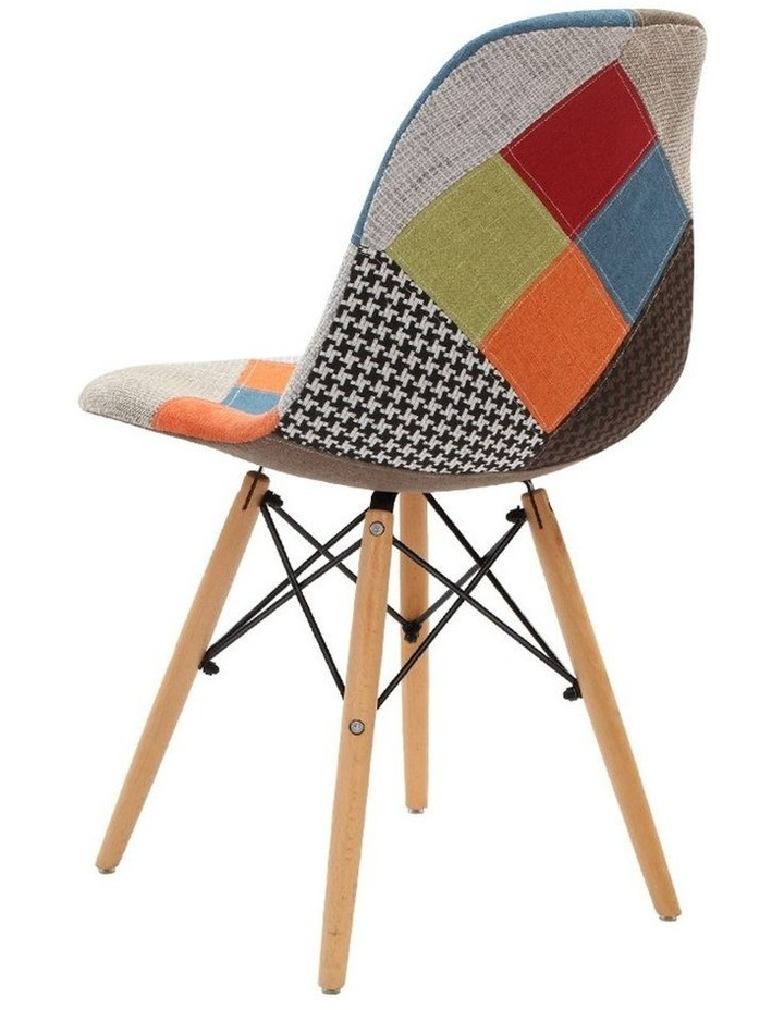 Retro Beech Fabric Dining Chair image 3