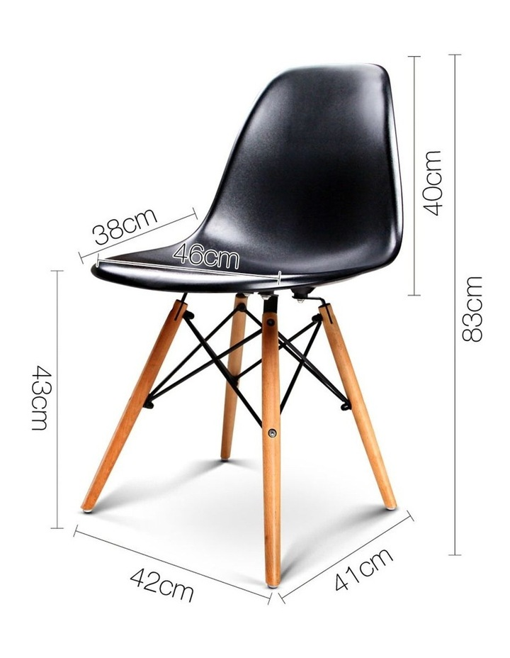 Retro Beech Wood Dining Chair image 2