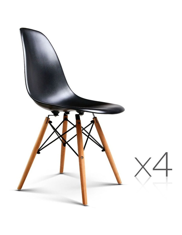 Retro Beech Wood Dining Chair image 3