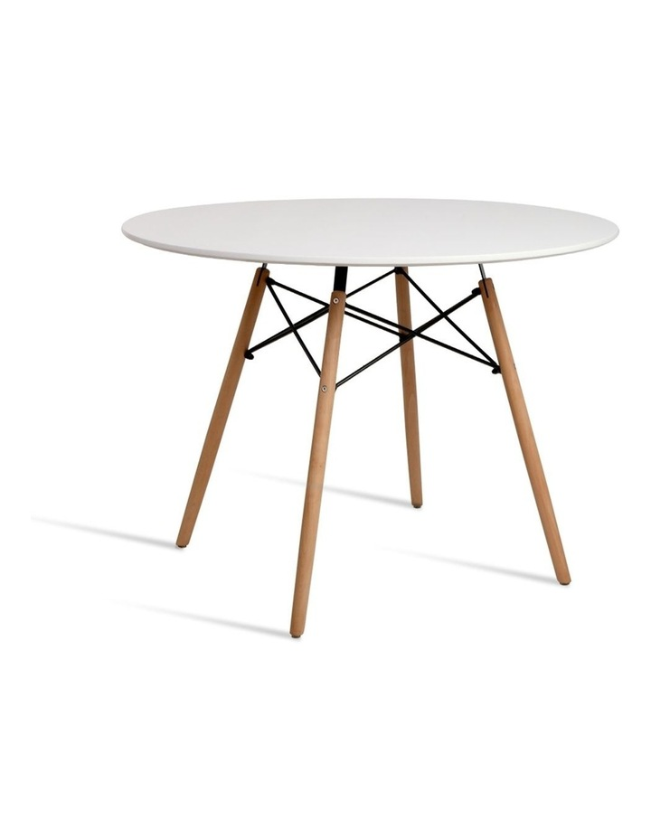 Round Beech Timber Dining Table image 1