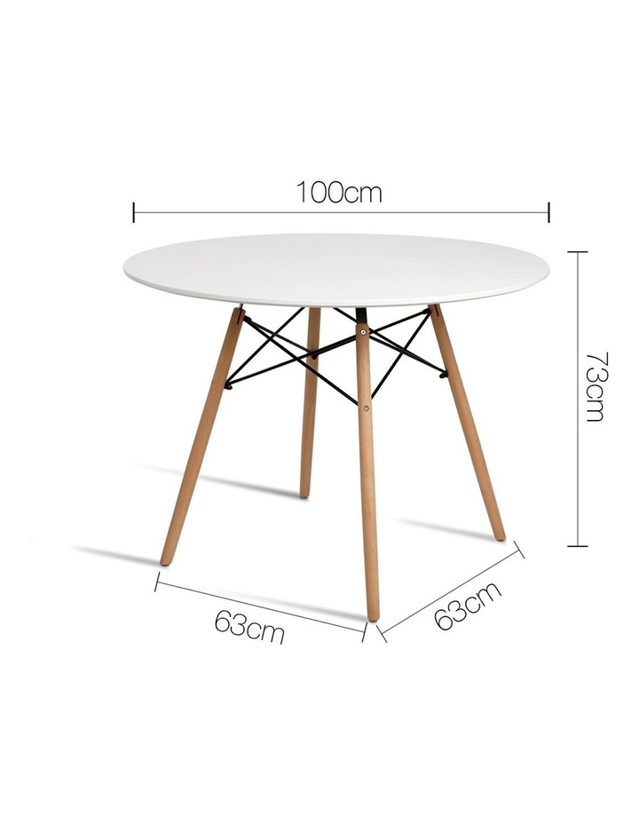 Round Beech Timber Dining Table image 2