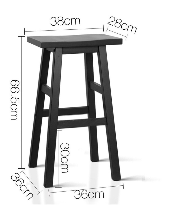 Wooden Backless Bar Stools image 2