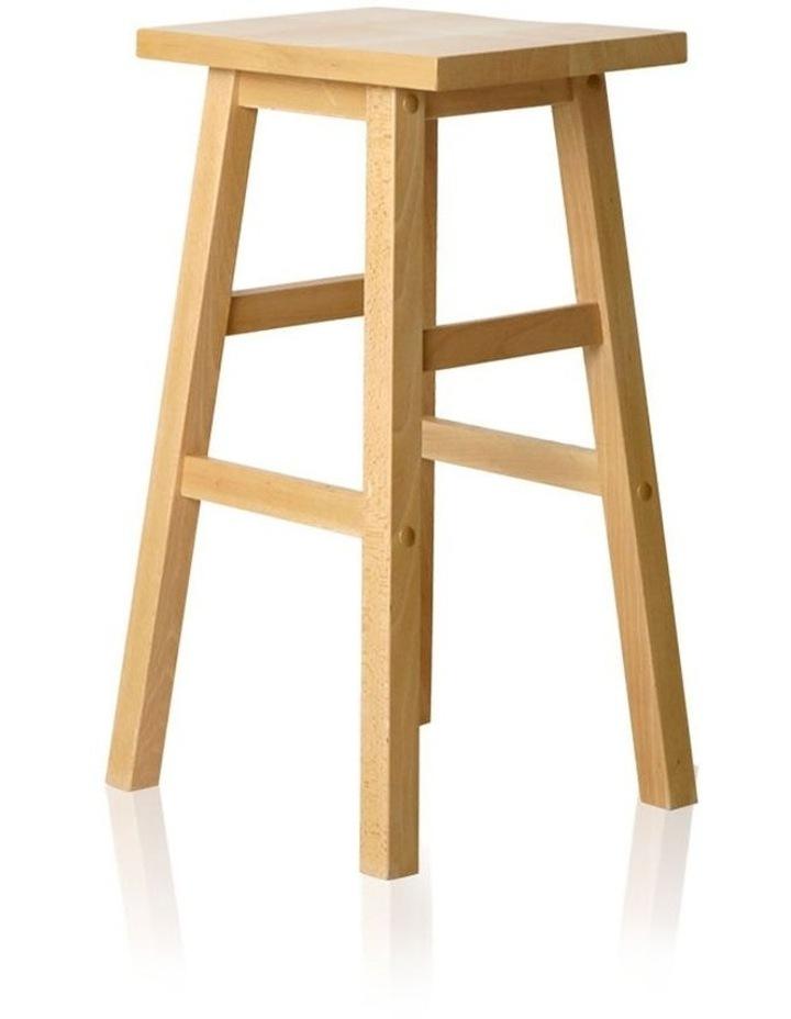 Set Of 2 Wooden Backless Bar Stools image 3