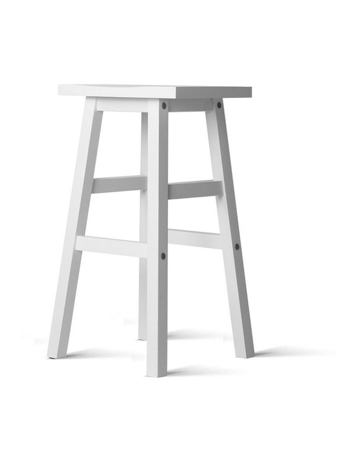 Set Of 2 Wooden Backless Bar Stools image 4