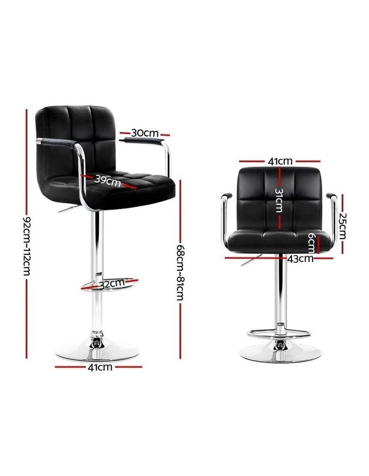 Noa Bar Stools Kitchen Swivel Bar Stool Leather Gas Lift Chairs image 2