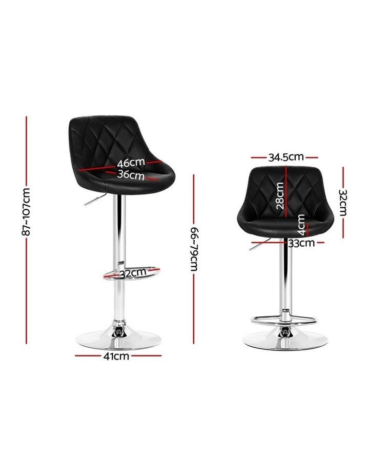 Elan Bar Stools Kitchen Swivel Bar Stool Leather Gas Lift Chairs image 2