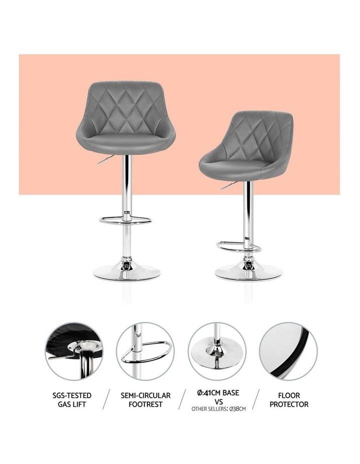 Elan Bar Stools Kitchen Swivel Bar Stool Leather Gas Lift Chairs image 4