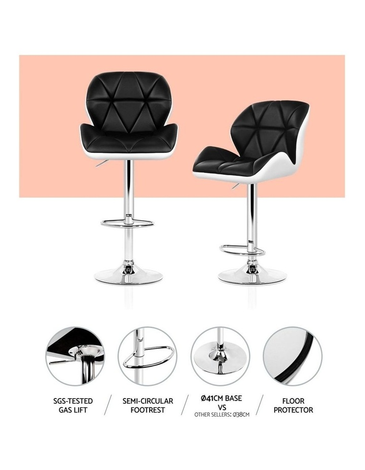 Kitchen Bar Stools Swivel Bar Stool Chairs Leather Gas Lift image 4