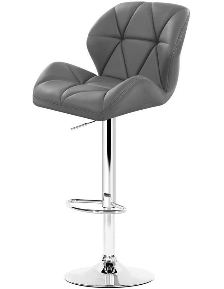 Bar Stools Gas Lift Kitchen Swivel Chairs Leather Chrome image 1