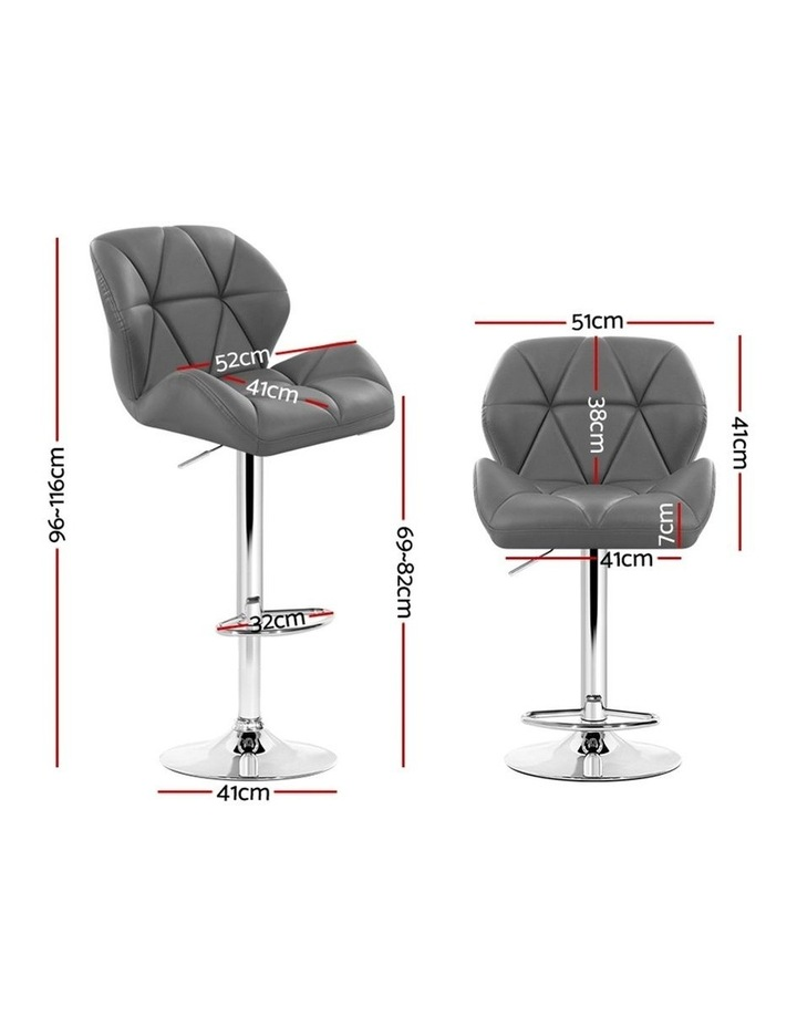 Bar Stools Gas Lift Kitchen Swivel Chairs Leather Chrome image 2