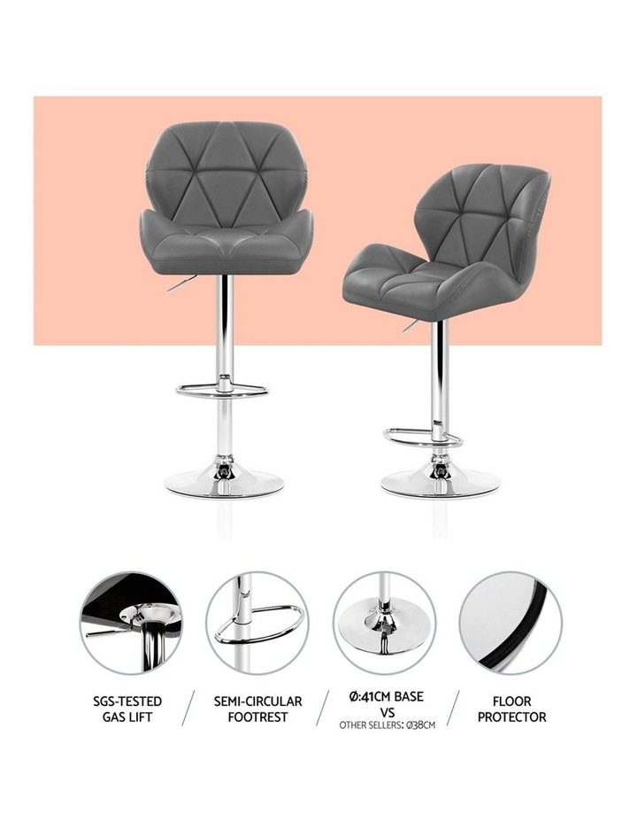 Bar Stools Gas Lift Kitchen Swivel Chairs Leather Chrome image 4