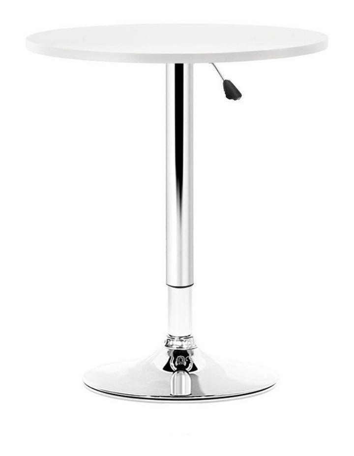 Bar Table Gas Lift Adjustable Kitchen Cafe Banquet Tables Pub Metal image 1