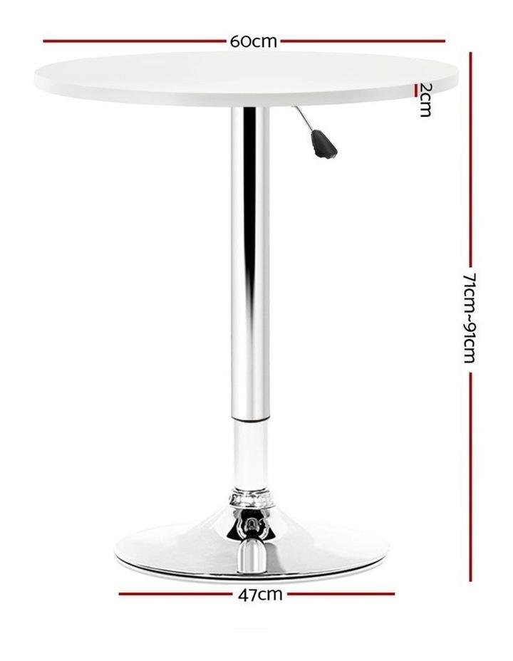 Bar Table Gas Lift Adjustable Kitchen Cafe Banquet Tables Pub Metal image 2