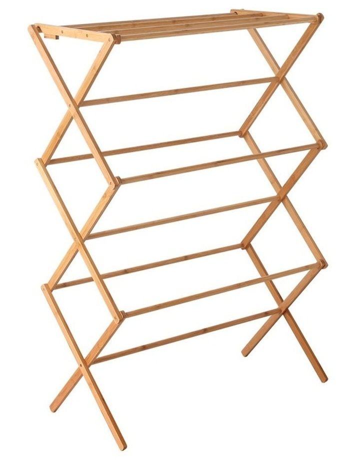 Folding Bamboo Clothes Dry Rack image 1