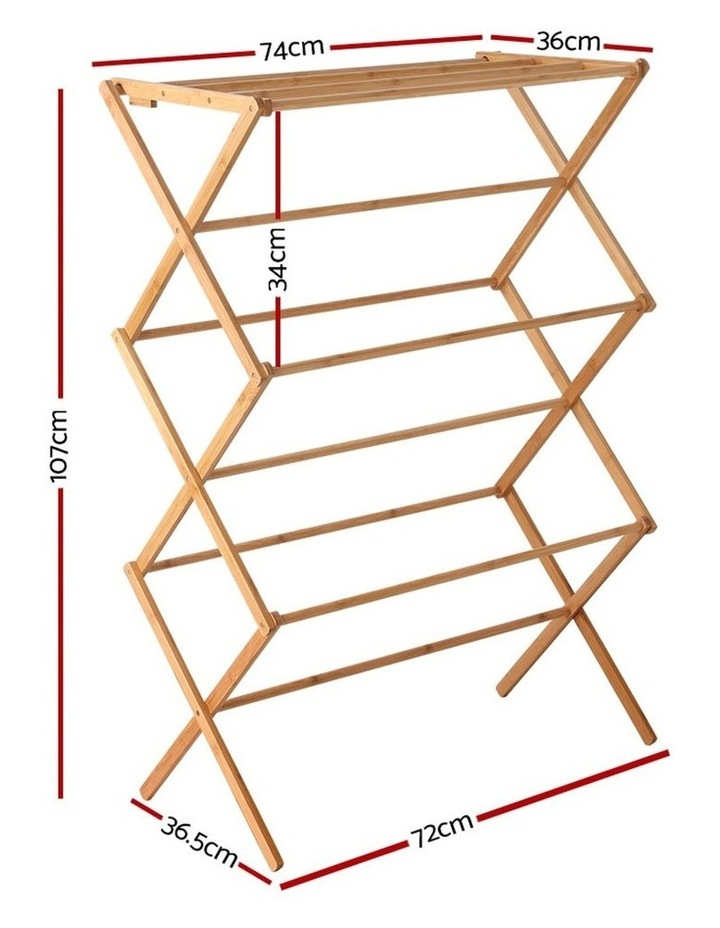 Folding Bamboo Clothes Dry Rack image 2