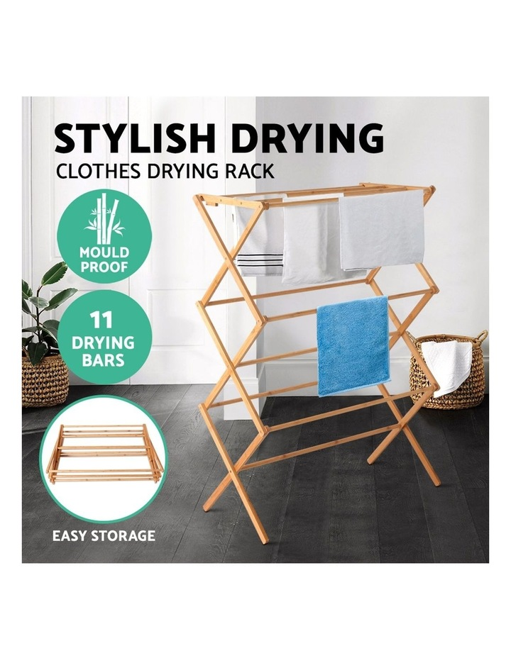 Folding Bamboo Clothes Dry Rack image 4