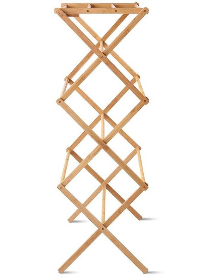 Folding Bamboo Clothes Dry Rack image 5