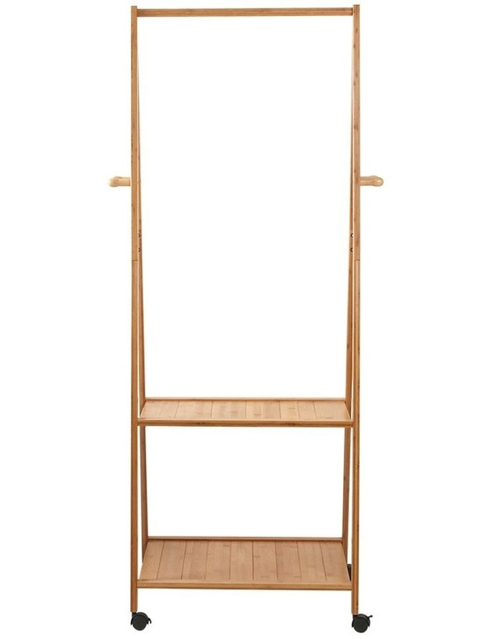 Portable Bamboo Double Shelf Rail image 3