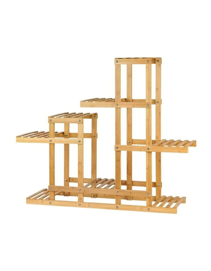 Bamboo Wooden Plant Stand Garden Planter image 1