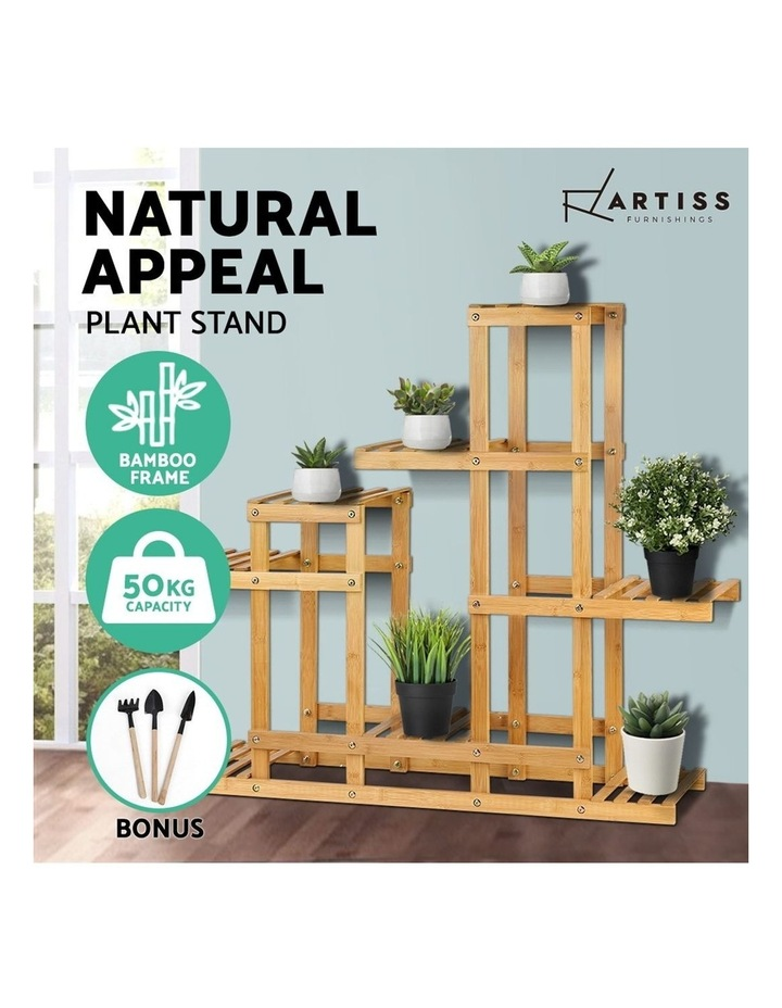 Bamboo Wooden Plant Stand Garden Planter image 4