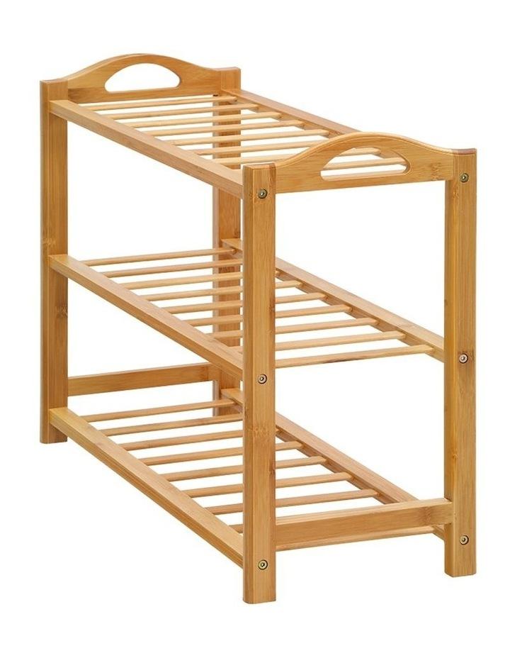 3 Tiers Bamboo Shoe Rack image 2