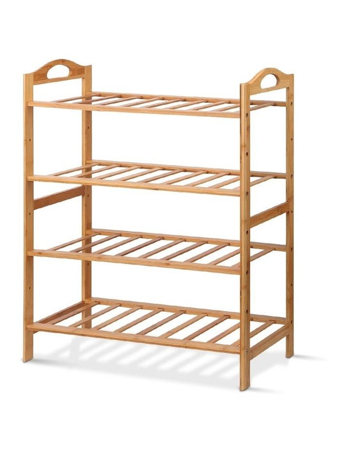 4 Tiers Bamboo Shoe Rack image 1