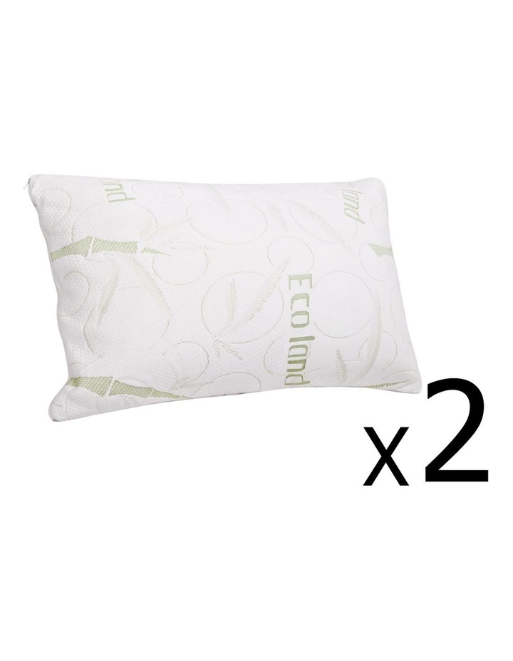 Set Of 2 Bamboo Pillow With Memory Foam image 1