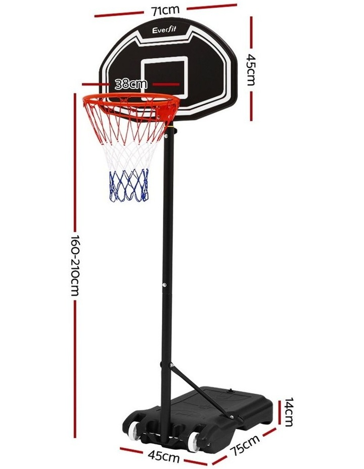 Everfit Pro Portable Basketball Stand System Hoop Height Adjustable Net Ring BK image 3