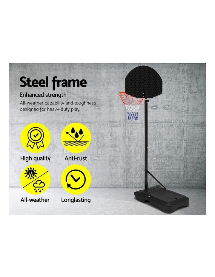 Everfit Pro Portable Basketball Stand System Hoop Height Adjustable Net Ring BK image 4