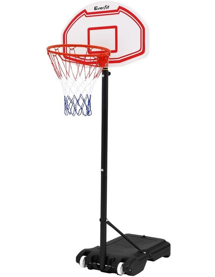 Everfit Pro Portable Basketball Stand System Hoop Height Adjustable Net Ring WH image 1