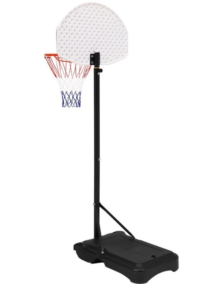 Everfit Pro Portable Basketball Stand System Hoop Height Adjustable Net Ring WH image 3