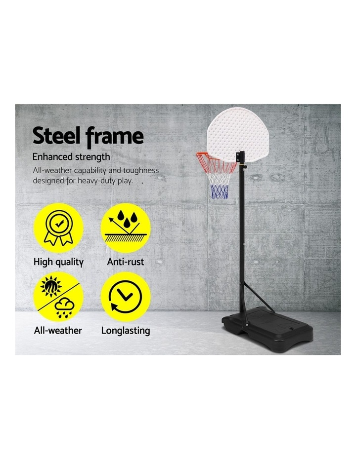 Everfit Pro Portable Basketball Stand System Hoop Height Adjustable Net Ring WH image 4