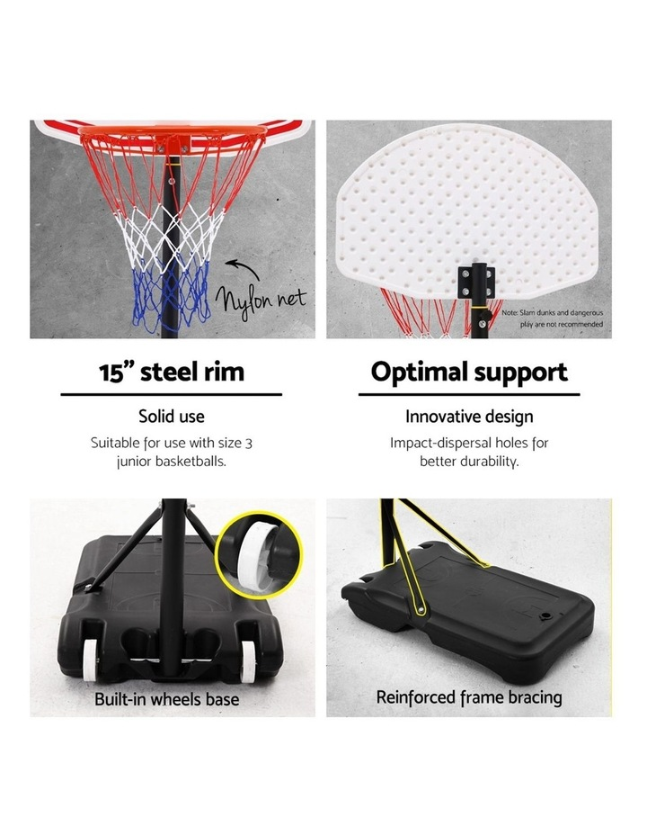 Everfit Pro Portable Basketball Stand System Hoop Height Adjustable Net Ring WH image 5