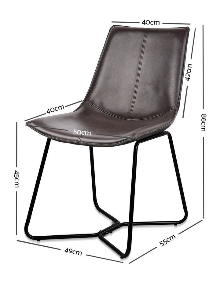 Set Of 2 Pu Leather Dining Chair image 2
