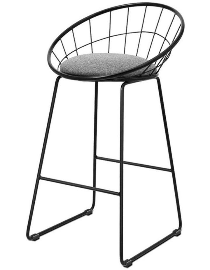 2X Nordic Bar Stools Metallic Bar Stool image 1