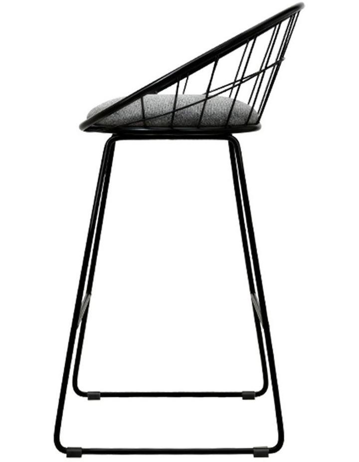 2X Nordic Bar Stools Metallic Bar Stool image 3