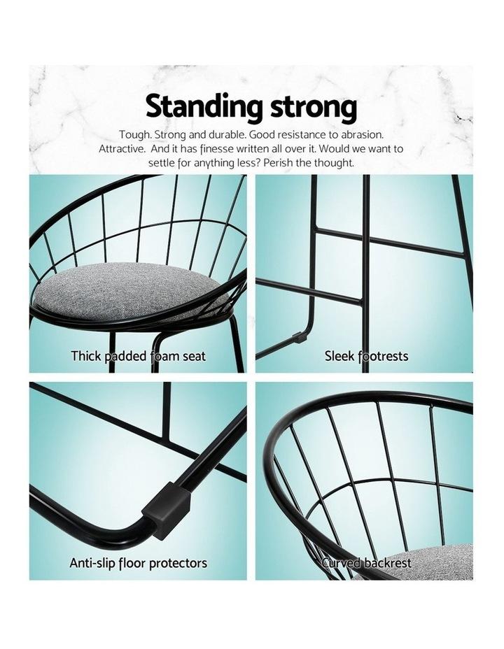 2X Nordic Bar Stools Metallic Bar Stool image 5