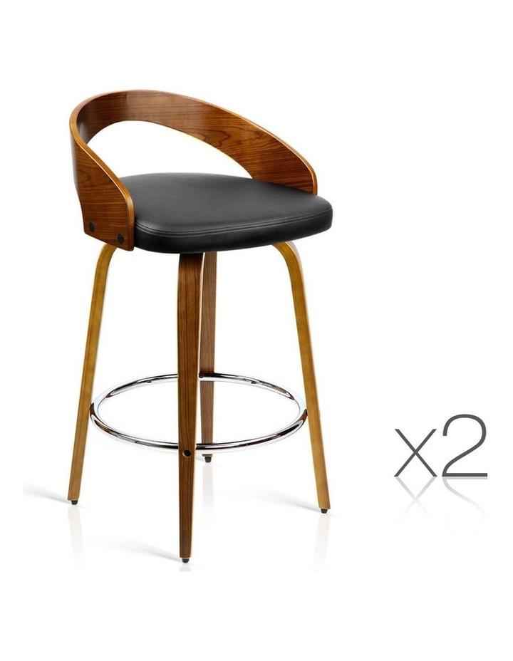 Set Of 2 Wooden Bar Stools image 1