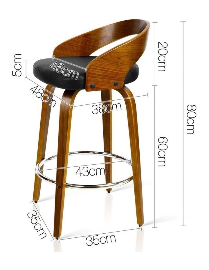 Set Of 2 Wooden Bar Stools image 2