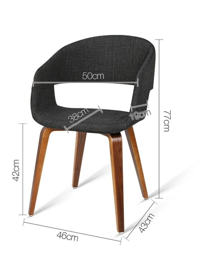 Set Of 2 Timber Wood And Fabric Dining Chairs image 2