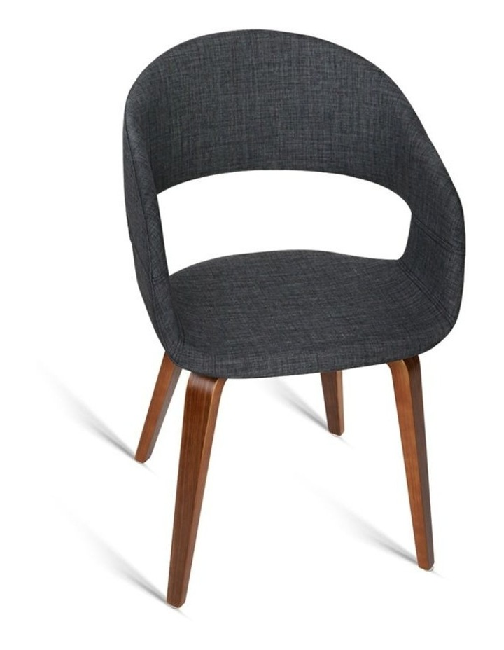 Set Of 2 Timber Wood And Fabric Dining Chairs image 4
