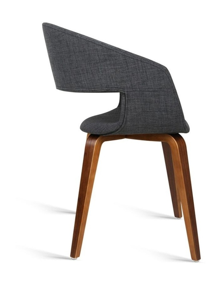 Set Of 2 Timber Wood And Fabric Dining Chairs image 5