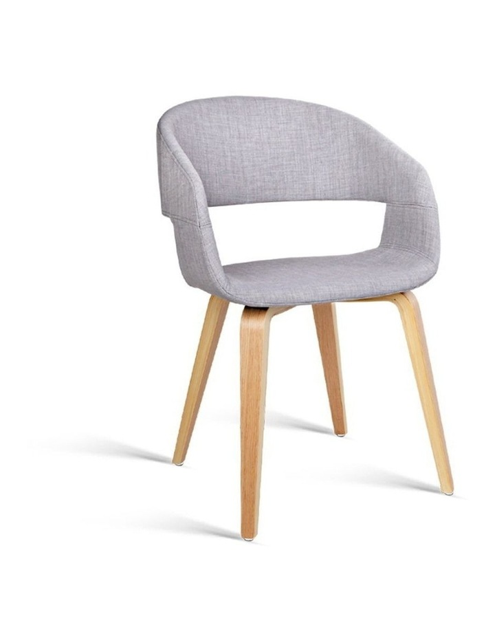 Artiss Set of 2 Timber Wood and Fabric Dining Chairs - Light Grey image 1
