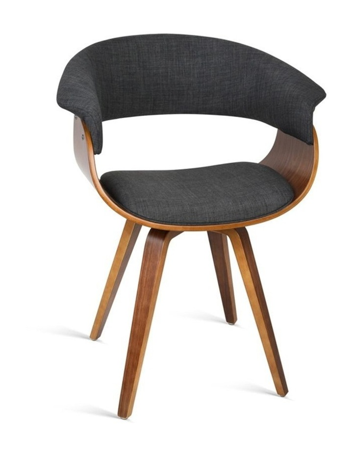 Timber Wood And Fabric Dining Chair image 1